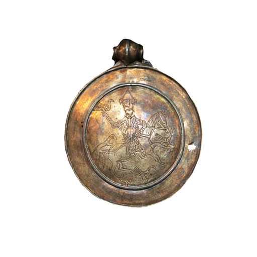 Медальон с изображением всадника