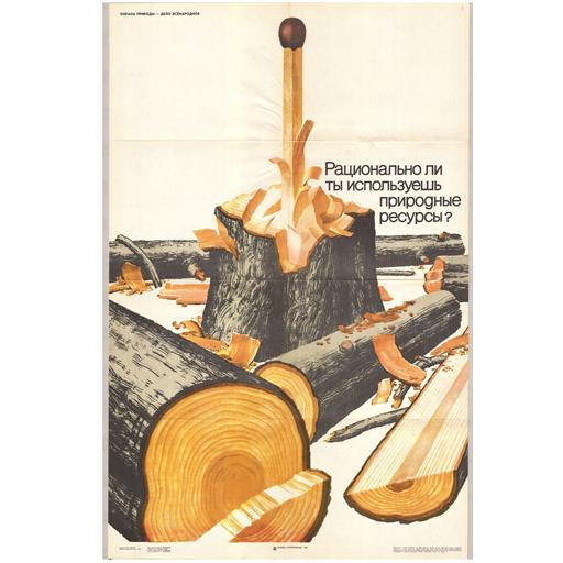 Плакат «Рацинально ли ты используешь природные ресурсы»